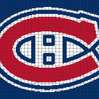 Montreal Canadiens (Chart/Graph AND Row-by-Row Written Crochet Instructions) - 01