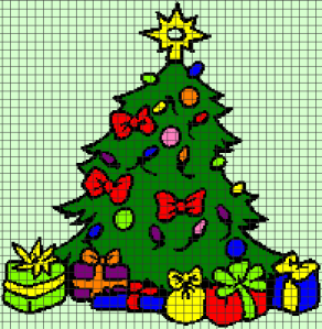Christmas Tree (Chart/Graph AND Row-by-Row Written Crochet Instructions) – 03