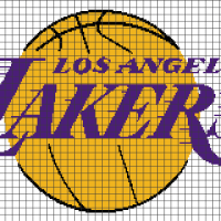 Los Angeles Lakers (Chart/Graph AND Row-by-Row Written Crochet Instructions) - 01
