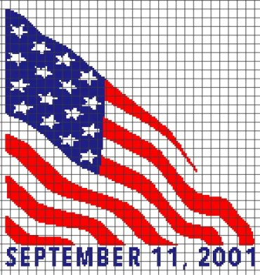 September 11, 2011 – 9/11 Tribute (Graph AND Row-by-Row Written Crochet Instructions) – 01