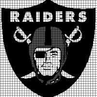 Oakland Raiders (Graph AND Row-by-Row Written Crochet Instructions) - 01