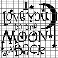 I Love You to the Moon and Back (Graph AND Row-by-Row Written Crochet Instructions) - 04