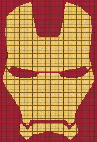 Iron Man (Graph AND Row-by-Row Written Crochet ...