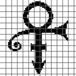 Prince Symbol Bobble Stitch (Graph AND Row-by-Row Written
