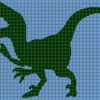 Dinosaur (Velociraptor) - (Graph AND Row-by-Row Written Crochet Instructions) - 01
