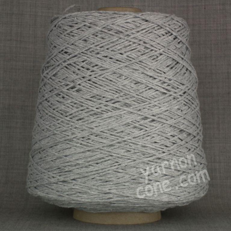Double knitting DK soft pure cotton yarn on cone hand machine knitting weaving crochet silver grey