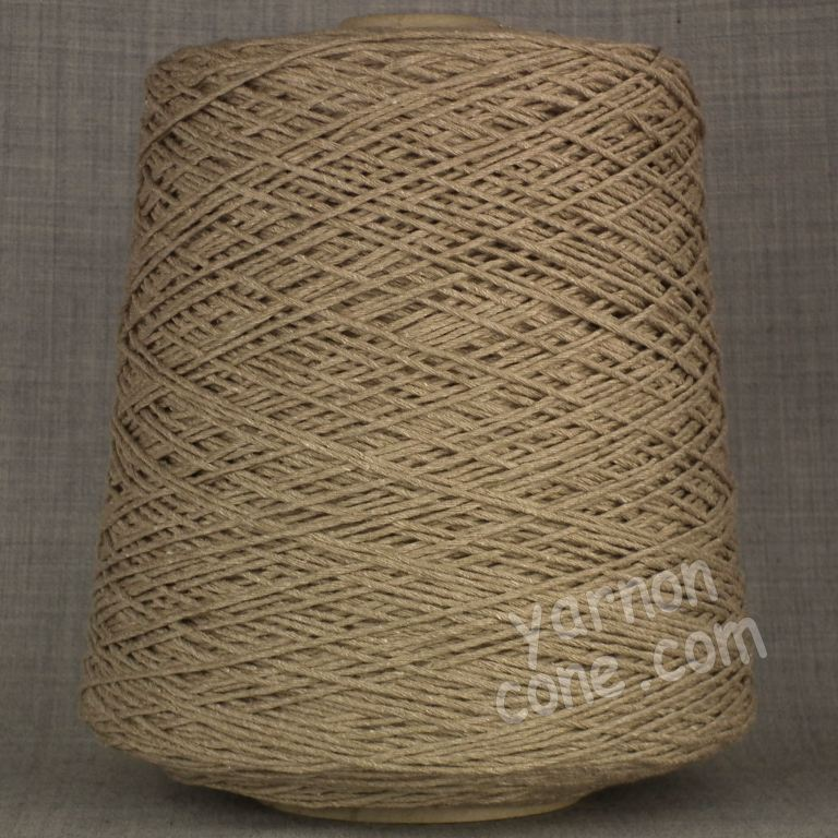 Double knitting DK soft pure cotton yarn on cone hand machine knitting weaving crochet taupe brown