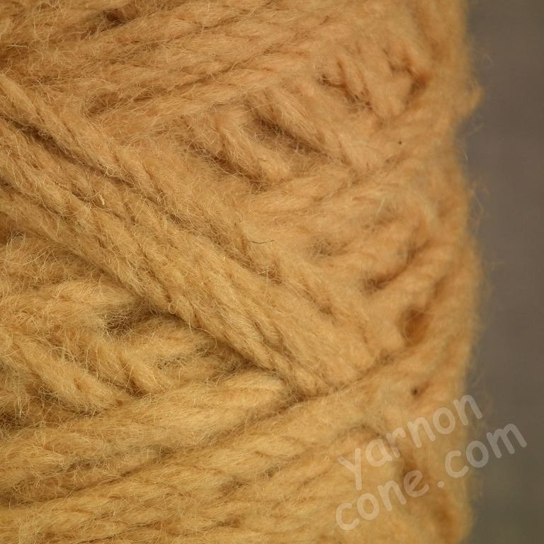Berber rug making thick carpet yarn weaving latch hook corn yellow red orange thick wool cone