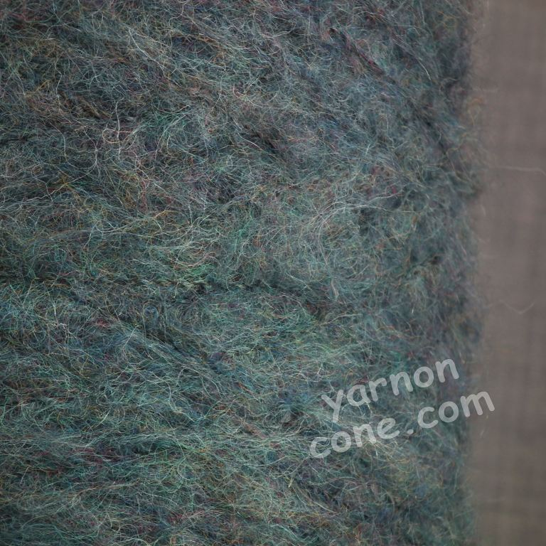 mohair wool viscose blend 4 ply yarn on cone soft fluffy warm hand machine knitting uk blue grey melange