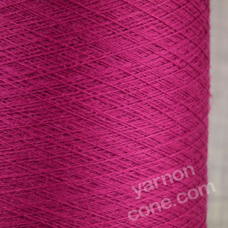 Loro piana super cashmere yarn pure cobweb 2/52 nm cone luxury fuchsia pink