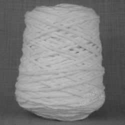 chunky thick macrame cotton recycled yarn fibre bright optic white bleached cotton coned uk supplier