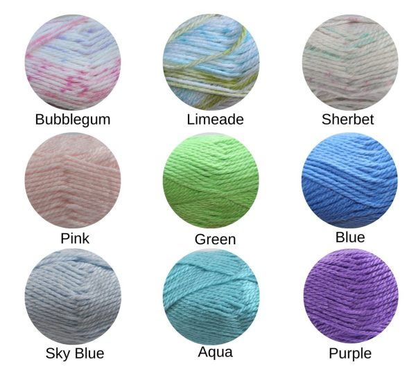 Colour chart for crochet kits and knitting kits for kids