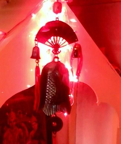 Shining lights at a small shrine