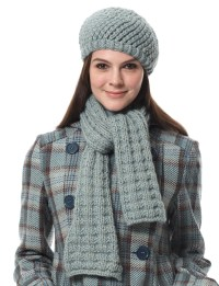 Bernat, Scarf and Hat (Pattern) | Yarnspirations