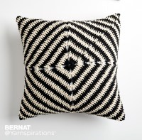 Bernat Line Up! Crochet Pillow, Crochet Pattern ...