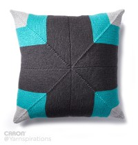 Caron Mighty Mitered Knit Pillow, Knit Pattern ...