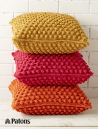 Patons Bobble-licious Pillows, Crochet Pattern ...