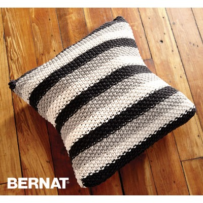 Bernat Reversible Spike Stitch Pillow Cover Crochet