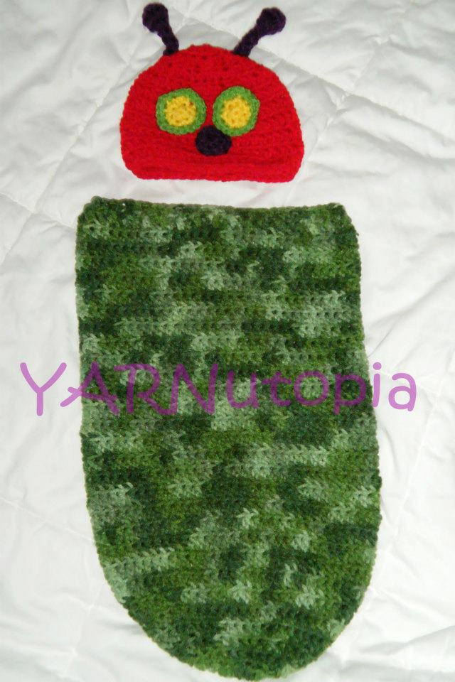 Crochet Tutorial  Baby Caterpillar Cocoon - YARNutopia by Nadia Fuad ... ec40a096f2b