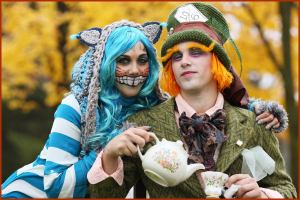 Cheshire Cat and Mad Hatter