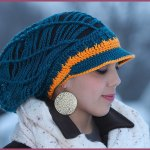 Crochet Tutorial: Slouchy Mesh Hat with Brim