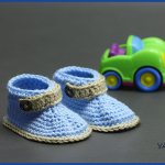 Crochet Tutorial: Little Gentleman Baby Booties