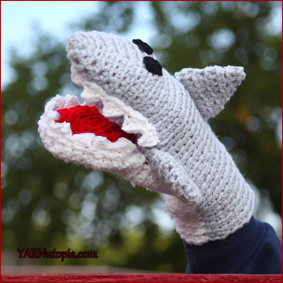 3af41d17f33 Crochet Tutorial  Great White Shark Hand Puppet - YARNutopia by ...
