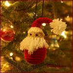12 Days of Christmas: Santa Ornament