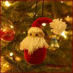 12 Days of Christmas: Santa Ornament