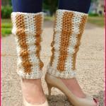 Crochet Tutorial: Vertical Striped Leg Warmers