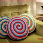 How to Crochet Tutorial: Candy Swirl Pillow