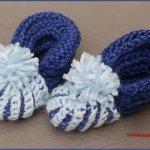 Crochet Tutorial: Simple Infant Booties