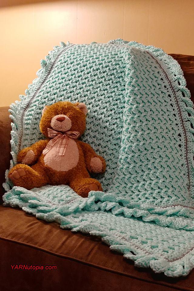 Crochet Tutorial Wiggles Giggles Baby Blanket Yarnutopia By