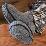 FREE Crochet Tutorial: Adult Mens Chunky Slippers