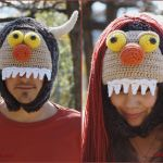FREE Written Crochet Pattern: Adult Sized Monster Hats (Male and Female Designs)
