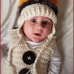FREE Written Crochet Pattern: The Baby Crown Earflap Hat