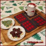 12 Days of Christmas: Buffalo Plaid Coasters – FREE Written Crochet Pattern