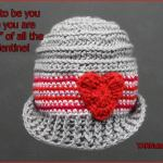 FREE Written Crochet Pattern: Sweetheart Baby Hat