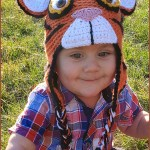 FREE Written Crochet Pattern: Tiger Hat with Earflaps