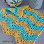 FREE Written Crochet Pattern: Chevron Washcloth
