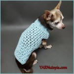 FREE Written Crochet Pattern: Bundle Up Dog Sweater
