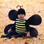 FREE Written Crochet Pattern: Bumble Bee Romper and Beanie Costume