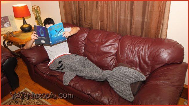 Crochet Tutorial Adult Shark Blanket  YARNutopia by