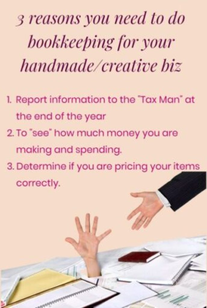 "keep track of every penny you spend and every penny you make. For many small business owners the terms ""bookkeeping and accounting"" might just as well be the WORST four-letter words that they have ever uttered out loud! 3 reasons you you need to do bookkeeping for your handmade biz."