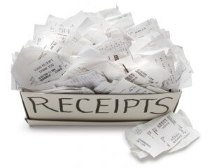 Throwing receipts in a box is NOT bookkeeping