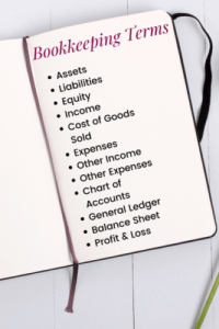Common bookkeeping & accounting terms