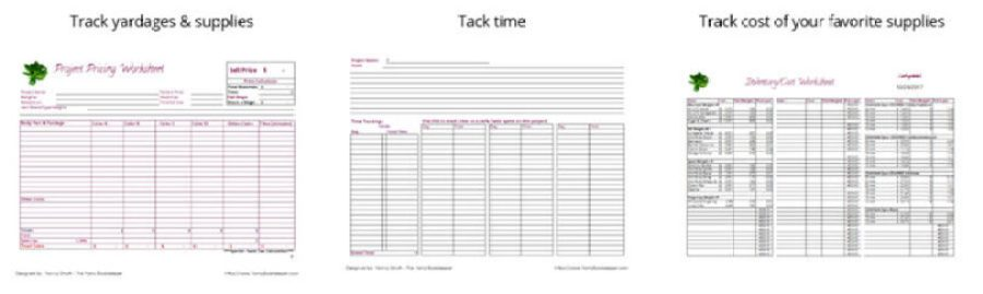 3 part project pricing worksheet