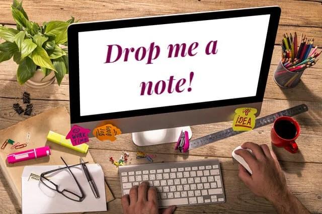 Drop me a note