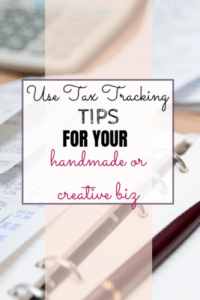 Two use tax tracking tips for your handmade business - one using QuickBooks and the other using spreadsheets.