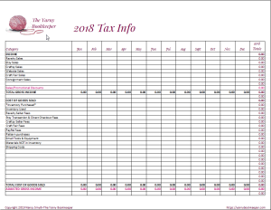 Free Tax Time bookkeeping spreadsheet from the Yarny Bookkeeper